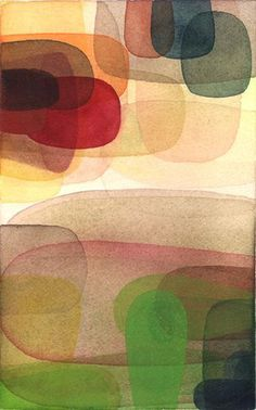 abstract : layered : Philip Kirk ~ Towards Light, 2007 (watercolor on paper)