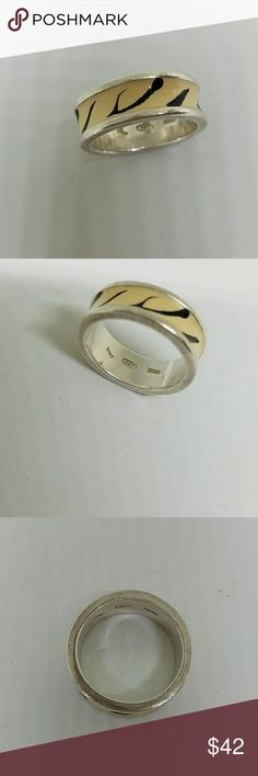 Vintage 925 Milor Italy Enamal Ring Adorable Vintage 925 Milor Italy Enamel Tiger Stripe Ring. Size 8. Great Condition. Stamped 925 Minor Italy. Jewelry Rings