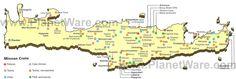 Map of Minoan Crete