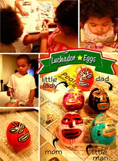 Luchador Eggs!  (I want these for Easter!)