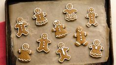 "Gingerbread Cutouts (Cookie Exchange Quantity) - ""Can we eat them yet?"" is the first question you'll hear every time you bake these spicy gingerbread cookies. Christmas Desserts, Christmas Baking, Christmas Treats, Holiday Treats, Christmas Recipes, Christmas Stuff, Christmas Time, Xmas, Christmas Foods"