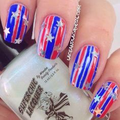 Lace and Lacquers: #NOTD 4th of July Nail Art