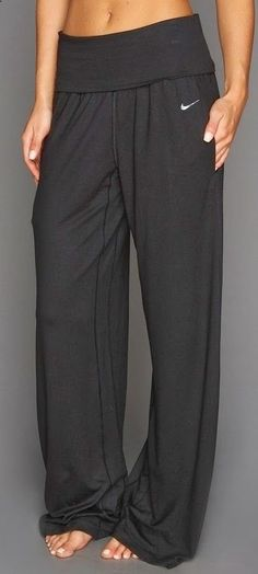 Comfortable lose nike yoga pant..- these look comfortable and they aren't all tight and showing off EVERYTHING.