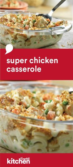 Make it quickly, make it ahead, whatever works for you. This flavorful Super Chicken Casserole recipe has all the comfort food ingredients and vegetables you look for in a dish. Making it a terrific dinner idea for any night.