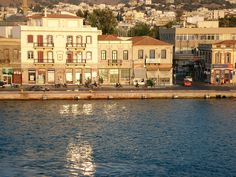 Port of Chios in the first morning sunlight