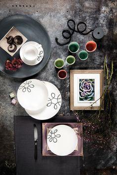 Gmundner Keramik - Pur Geflammt Grau  - Handbemaltes Geschirr - 100% aus Österreich Decorative Plates, Pure Products, Teller, Tableware, Design, Home Decor, Hand Painted Dishes, Handmade, Handarbeit