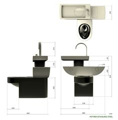 Eco Toilet gives you the option of using recycled washbasin water and regular fresh water for flushing. The water tank is divided into two segments and