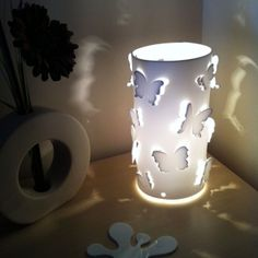 White Butterfly Table Lamp