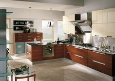 | Wood and steel create a strong personality in Home | #Kitchens by #Scavolini |