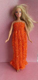 Taffy Lass Knits: Sassy Dress for Barbie