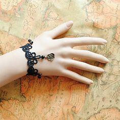 Women's Flower Crystal Lace Bracelet