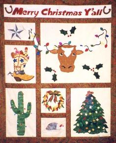 handmade cowboy quilt | Merry Christmas Y'All patterns