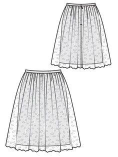 """#105 12/2012 burda 1.50 x 0.80 m under skirt, 0.95 x 2.35 m lace, 2.5 cm x 1.70 m ribbon & 9"""" zip"""