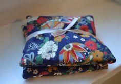 Lavender Sachets Japanese Fabric Sachets Blue by kookyhandbags Lavender Buds, French Lavender, Lavender Sachets, Japanese Patterns, Japanese Fabric, Woolen Socks, Diaper Bag, Bed Pillows, Cotton Fabric