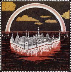Moscow Москва Artist: Ivan Bilibin Completion Date: 1900 Ivan Bilibin, Russian Folk, Russian Art, Art Database, Art Graphique, Love Art, Zine, Art Nouveau, Fairy Tales