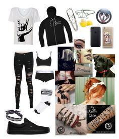 """Untitled #270"" by lexaguilbert ❤ liked on Polyvore featuring Hot Topic, Samsung, Vans, Concrete Minerals, Eos, Calvin Klein Underwear and Fallon"