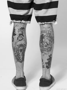 Tathunting for leg tattoos Bike Tattoos, Pin Up Tattoos, Great Tattoos, Body Art Tattoos, Tattoos For Guys, Mens Tattoos, Tattoo Life, Calf Tattoo, I Tattoo
