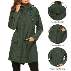 Plaid Jacket, Hooded Jacket, Coats For Women, Jackets For Women, Stylish Dresses For Girls, Military Jacket, Casual Outfits, Winter Jackets, Clothes