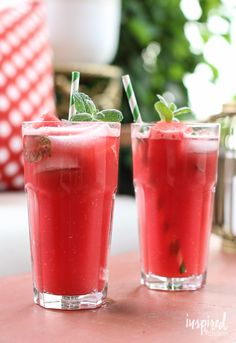 Delicious Watermelon Mojitos // Inspired by Charm