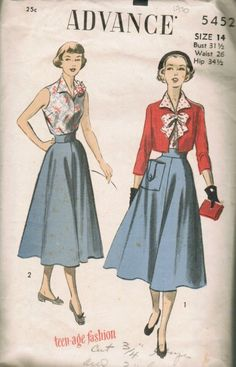 1950s skirt with pocket detail
