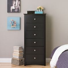 Details About Black Tall Chest 6 Drawer Dresser Set Home Bedroom Wooden Space Saving Furniture inside measurements 1500 X 1500 Very Tall Bedroom Dressers 6 Drawer Chest, 6 Drawer Dresser, Dresser As Nightstand, Chest Of Drawers, Chest Dresser, Dresser Ideas, Bedroom Dressers, Bedroom Furniture, Home Furniture