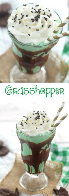 This Grasshopper is part cocktail, part milkshake, and all totally delicious!