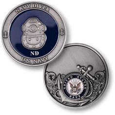 Navy Diver Challenge Coin #deep sea diver