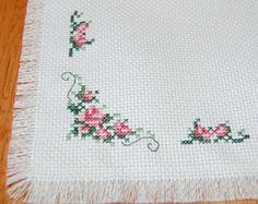 Black Eye Susan Cross Stitch Mat/ Table Topper by CraftsForKids