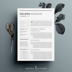 Resume Template 3page | Simplifier by The.Resume.Boutique on @creativework247