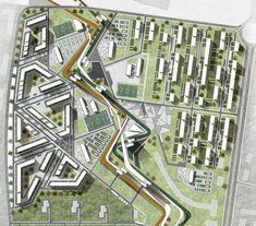 Imagini pentru urban design scale pedestrian path width how many people Urban Design Concept, Urban Design Diagram, Urban Design Plan, Plan Design, Masterplan Architecture, Landscape Architecture Design, Urban Architecture, Architecture Diagrams, Architecture Portfolio
