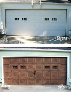 Have a builder grade garage door, but crave the look of custom? With these simple DIY steps, you can create curb appeal with a faux wood garage door.