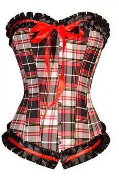 Loi.color Plaid Burlesque Ruffle Corset Lingerie Tops M on http://lingeria.kerdeal.com/loi-color-plaid-burlesque-ruffle-corset-lingerie-tops-m
