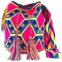 Wayuu Mochila bag Tapestry Bag, Tapestry Crochet, Tribal Patterns, Crochet Patterns, Knitted Bags, Crochet Bags, Boho Bags, Purses And Bags, Stylish