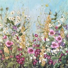 'Summer's gift' by Marie Mills, 80x80cms, £1095. Now at D'Art Gallery, Dartmouth, Devon. http://www.dart-gallery.com/gallery_detail.asp?id=2363