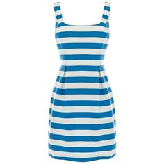 Oasis stripe riri dress ($36) ❤ liked on Polyvore featuring dresses, vestidos, day dresses, women's suits, stripe dress, blue striped dress, striped dress, blue stripe dress and oasis dress
