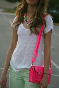 pop of neon with the pastels!
