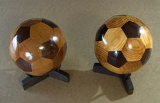 Russian Carpenter Beautifully Crafts a Soccer Ball Out of Wood