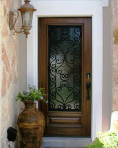 This Is A Classic Look For A Wood And Wrought Iron Front Door! Update The