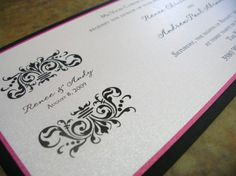 Flat panel card with a damask accent