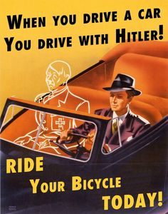 Propaganda poster from World War II - Car sharing encouragement, lest you let Adolf Hitler hitch a ride with you. Vintage Humor, Weird Vintage Ads, Vintage Cars, Vintage Ladies, Propaganda Ww2, Ww2 Posters, Retro Posters, Images Vintage, Vintage Photographs