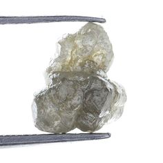 1.41 Ct Natural Loose Diamond Rough Natural Shape Silver Gray Color