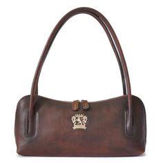 832cd819d7 Pratesi Womens Italian Leather Sansepolcro Small Shoulder Handbag Purse in  Coffee, Size: 8'
