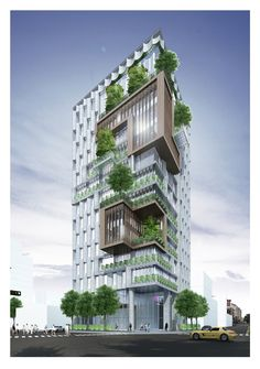 42 Ideas For Apartment Architecture Building Skyscrapers Residential Building Design, Office Building Architecture, Green Architecture, Building Exterior, Building Facade, Futuristic Architecture, Sustainable Architecture, Architecture Design, Green Building