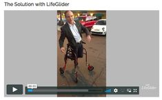 fall This video illustrates how the LifeGlider prevents falls by securing the user at his center of gravity. Four points of contact (two seat bones and two hip bones) hold the user securely even Home Gadgets, Gadgets And Gizmos, Disability Help, Wheelchair Accessories, Adaptive Equipment, Mobility Aids, Assistive Technology, Cool Inventions, Useful Life Hacks