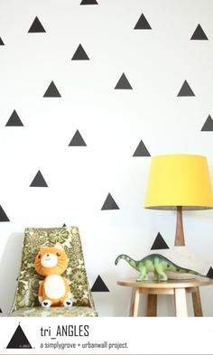 Triangles on the wall.