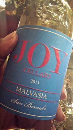 Sunshine and Elephants: Wino Wednesday ~ Joy Cellars 2013 Malvasia