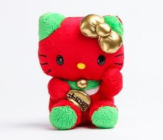 Hello Kitty Mascot Plush: Red Lucky Cat