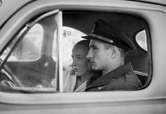 The Korean War in rare pictures, - A young officer and his wife sit in their car at the dock and stare quietly at the waiting aircraft carrier before he leaves for Korea. Rare Historical Photos, Quiet Moments, Korean War, Rare Pictures, Aircraft Carrier, Photos Of The Week, North Korea, Wwii, San Diego