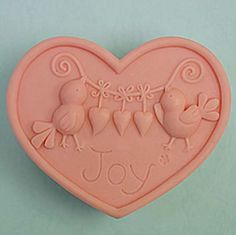 Quality Joy Birds Heart shape 50248 Craft Art Silicone Soap mold Craft Molds DIY Handmade soap molds with free worldwide shipping on AliExpress Mobile Handmade Soaps, Handmade Crafts, Diy Crafts, Soap Molds, Silicone Molds, Taiwan, Soap Carving, Shape Crafts, Candle Molds