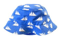Vtg Reversible Nautical Style Bucket Hat Circa.Unknown